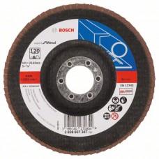 Лепестковый шлифкруг X551 Expert for Metal 125x22,23 мм, 120 Bosch 2608607347