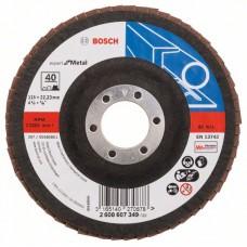 Лепестковый шлифкруг X551 Expert for Metal 115x22,23 мм, 40 Bosch 2608607349