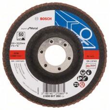 Лепестковый шлифкруг X551 Expert for Metal 115x22,23 мм, 60 Bosch 2608607350