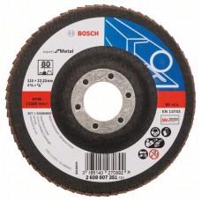 Лепестковый шлифкруг X551 Expert for Metal 115x22,23 мм, 80 Bosch 2608607351