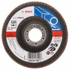 Лепестковый шлифкруг X551 Expert for Metal 115x22,23 мм, 120 Bosch 2608607352
