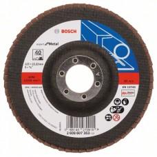 Лепестковый шлифкруг X551 Expert for Metal 125x22,23 мм, 40 Bosch 2608607353