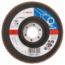 Лепестковый шлифкруг X551 Expert for Metal 125x22,23 мм, 60 Bosch 2608607354