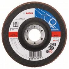 Лепестковый шлифкруг X551 Expert for Metal 125x22,23 мм, 80 Bosch 2608607355