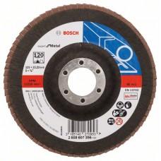 Лепестковый шлифкруг X551 Expert for Metal 125x22,23 мм, 120 Bosch 2608607356