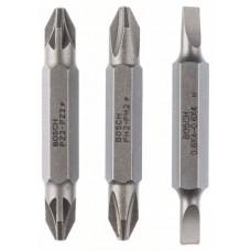 Набор из 3 двухсторонних насадок-бит S 0,6x4,0, PH2, PZ2; S 0,6x4,0, PH2, PZ2; 45 мм Bosch 2607001744