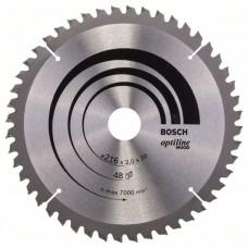 Пильный диск Optiline Wood 216x30x2,0 мм, 48 Bosch 2608640432