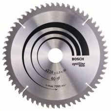 Пильный диск Optiline Wood 216x30x2,0 мм, 60 Bosch 2608640433