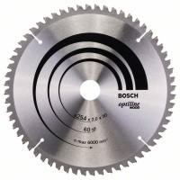 Пильный диск Optiline Wood 254x30x2,0 мм, 60 Bosch 2608640436