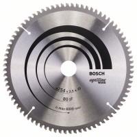 Пильный диск Optiline Wood 254x30x2,5 мм, 80 Bosch 2608640437