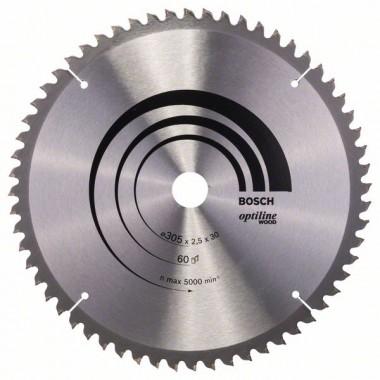 Пильный диск Optiline Wood 305x30x2,5 мм, 60 Bosch 2608640441