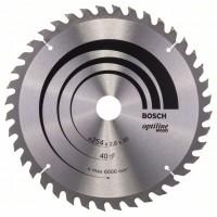 Пильный диск Optiline Wood 254 x 30 x 2,8 mm, 40 Bosch 2608640443