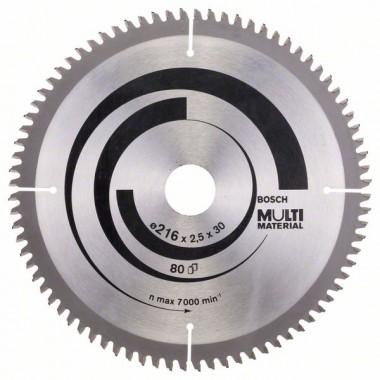 Пильный диск Multi Material 216 x 30 x 2,5 mm; 80 Bosch 2608640447