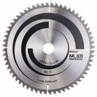 Пильный диск Multi Material 254x30x3,2 мм; 60 Bosch 2608640449