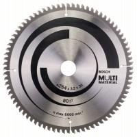 Пильный диск Multi Material 254x30x3,2 мм; 80 Bosch 2608640450