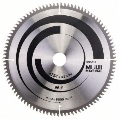 Пильный диск Multi Material 254 x 30 x 3,2 mm; 96 Bosch 2608640451