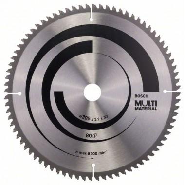 Пильный диск Multi Material 305 x 30 x 3,2 mm; 80 Bosch 2608640452