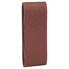 Набор из 3 шлифлент «красное» качество 60, без отверстий, на зажимах Bosch 2609256205