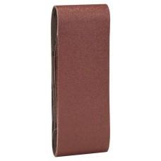 Набор из 3 шлифлент «красное» качество 80, без отверстий, на зажимах Bosch 2609256206