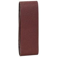 Набор из 3 шлифлент «красное» качество 1x60; 1x80; 1x100, без отверстий, на зажимах Bosch 2609256209