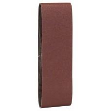 Набор из 3 шлифлент «красное» качество 80, без отверстий, на зажимах Bosch 2609256218