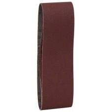 Набор из 3 шлифлент «красное» качество 100, без отверстий, на зажимах Bosch 2609256219