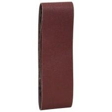 Набор из 3 шлифлент «красное» качество 1x60; 1x80; 1x100, без отверстий, на зажимах Bosch 2609256221