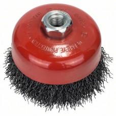 Круглая щетка для угловых и прямых шлифмашин - витая проволока, 100 мм, 0,5 мм, 8500 об/мин Bosch 2609256502