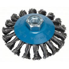 Конусная щетка для угловых и прямых шлифмашин - пучки витой проволоки, 100 мм 100 мм, 0,5 мм, 12500 об/мин Bosch 2609256511
