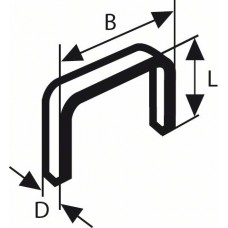 Скоба тип 53 18,0 мм Bosch 2609255824