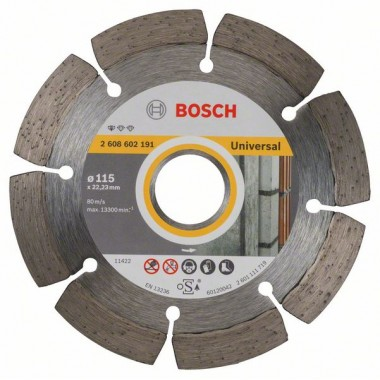 Алмазный диск Standard for Universal 115x22,23x1,6x10 мм Bosch 2608602191