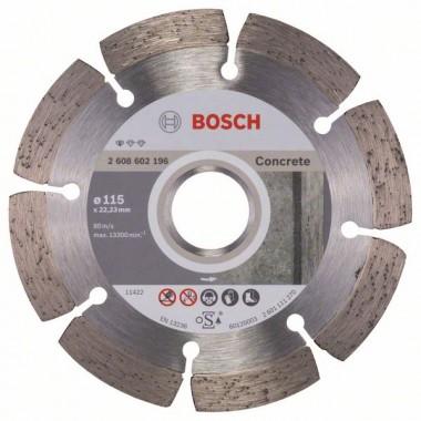 Алмазный диск Standard for Concrete 115x22,23x1,6x10 мм Bosch 2608602196