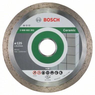 Алмазный диск Standard for Ceramic 125x22,23x1,6x7 мм Bosch 2608602202
