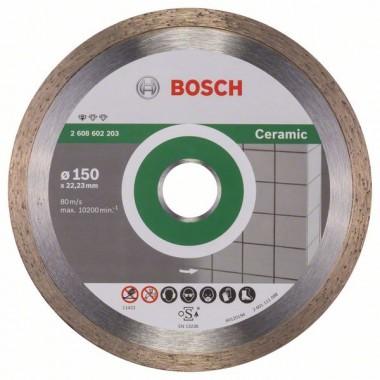 Алмазный диск Standard for Ceramic 150x22,23x1,6x7 мм Bosch 2608602203