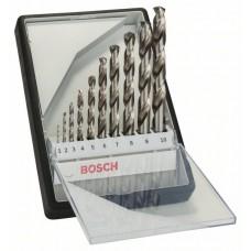 Набор из 10 сверл по металлу Robust Line HSS-G, 135° (1-10 мм) Bosch 2607010535