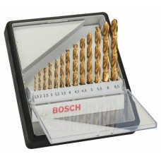 Набор из 13 сверл по металлу Robust Line HSS-TiN 135° Bosch 2607010539