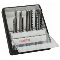 Набор из 10 пильных полотен Robust Line Wood Expert, с T-образным хвостовиком Bosch 2607010540
