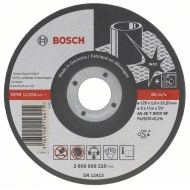 Отрезной круг прямой Best for Inox - Rapido Long Life A 60 W BF 41 115x22,23x1,0 мм Bosch 2608602220