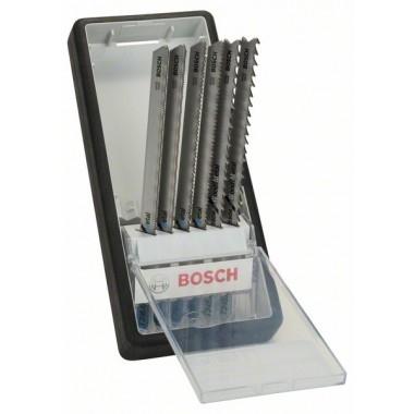 Набор из 6 пильных полотен Robust Line Metal Profile, с T-образным хвостовиком Bosch 2607010573