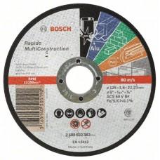 Отрезной круг прямой Rapido Multi Construction ACS 46 V BF 125x1,6 мм Bosch 2608602383