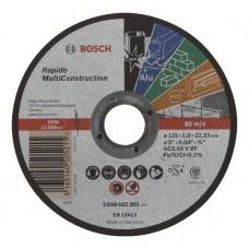Отрезной круг прямой Rapido Multi Construction ACS 60 V BF 125x1,0 мм Bosch 2608602385