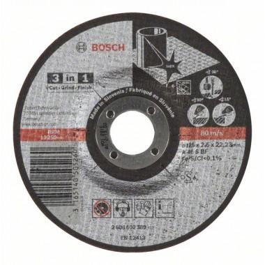 Отрезной круг «3 в 1» A 46 S BF 125x2,5 мм Bosch 2608602389