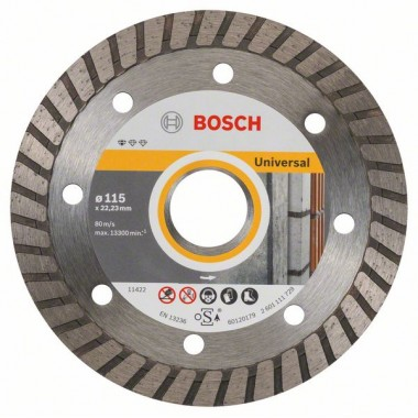 Алмазный диск Standard for Universal Turbo 115x22,23x2x10 мм Bosch 2608602393