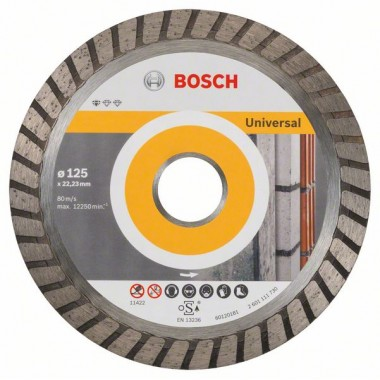 Алмазный диск Standard for Universal Turbo 125x22,23x2x10 мм Bosch 2608602394