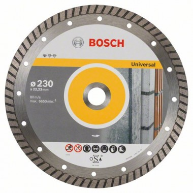 Алмазный диск Standard for Universal Turbo 230x22,23x2,5x10 мм Bosch 2608602397