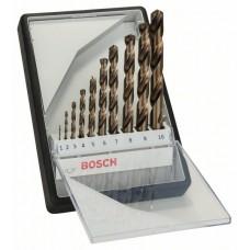 Набор из 10 сверл по металлу Robust Line HSS-Co (1-10 мм) Bosch мм Bosch 2607019925