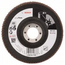 Лепестковый шлифкруг X581 Best for Inox 125x22,23 мм, 40 Bosch 2608607638