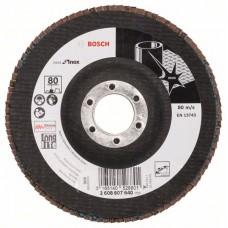 Лепестковый шлифкруг X581 Best for Inox 125x22,23 мм, 80 Bosch 2608607640