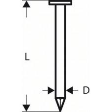 Гвозди с круглой головкой SN21RK 80 3,1 мм, 80 мм, без покр., гладк. Bosch 2608200030