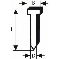 Штифт с потайной головкой SK64 40G 1,6 мм, 40 мм, оцинк. Bosch 2608200503